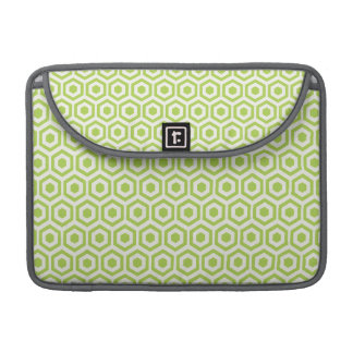 Retro Light Green Honeycomb Sleeve For MacBook Pro