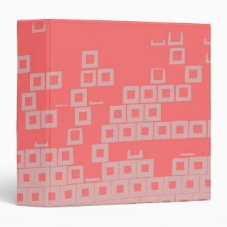 Retro Light Pink Squares vs Modern Dark Salmon Binder