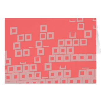Retro Light Pink Squares vs Modern Dark Salmon Stationery Note Card