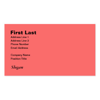 Retro Light Pink Squares vs Modern Dark Salmon Double-Sided Standard Business Cards (Pack Of 100)