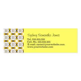 Retro Light Yellow Brown Profile Card Business Card Templates