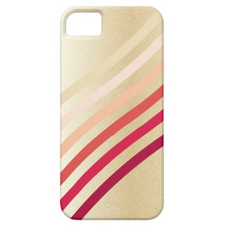 Retro Lightly Faux Gold Waves of Neutral to Red iPhone SE/5/5s Case