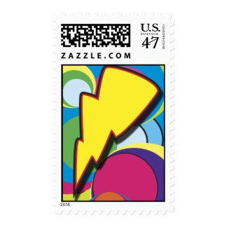 Retro Lightning Postage