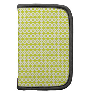 Retro Lime Green Circles Planner
