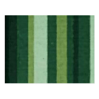 Retro Lime Green Grunge Stripe Post Cards