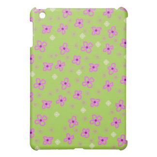 Retro lime green pink art iPad mini covers