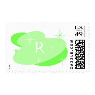 Retro Lime Starburst Postage