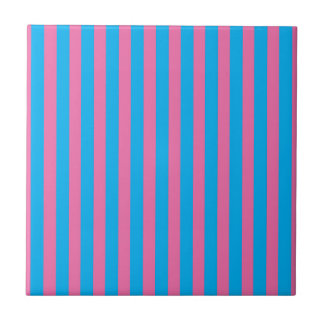 Retro lindo de la raya de la tienda del caramelo azulejo cuadrado pequeño