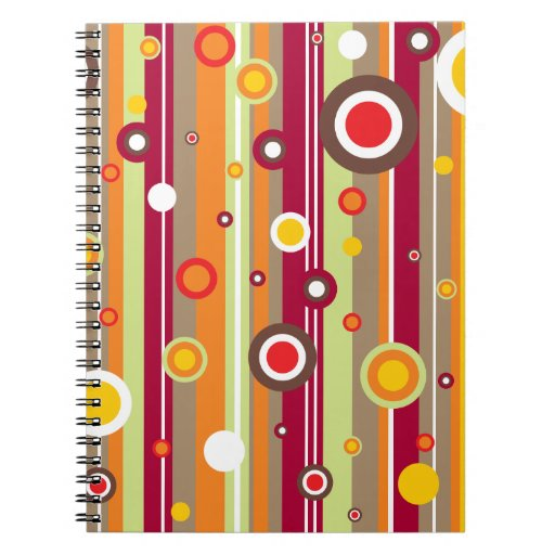 Retro Line Circles Vector Notebook