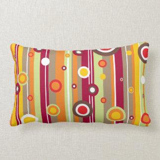 Retro Line Circles Vector Pillows