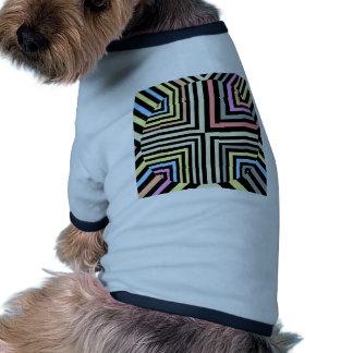 Retro Line Colorful Design Vintage Rock Styles Pet Tshirt