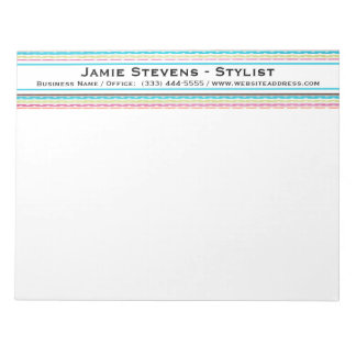 Retro Lines and Dots Pattern Notepad