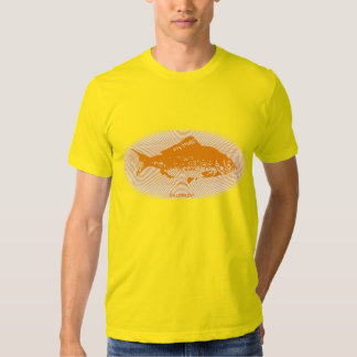 Retro Lines Gold Fish T-shirt