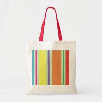 Retro Lines Hand Bag Budget Tote Bag