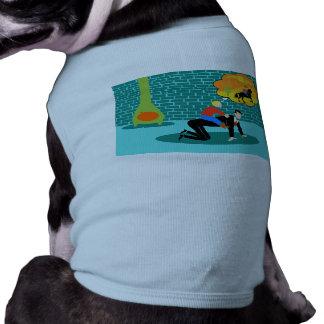 Retro Little Cowboy Dog T-Shirt