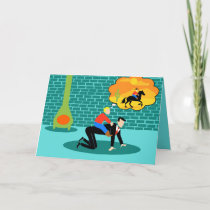 Retro Little Cowboy Father's Day Card