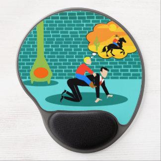 Retro Little Cowboy Gel Mousepad
