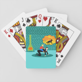 Retro Little Cowboy Playing Cards