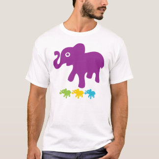 Retro Little Elephants T-Shirt