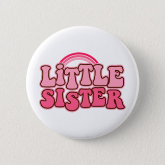 Retro Little SIster Pinback Button