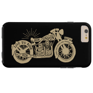 Retro Live To Ride Vintage Motorcycle with Text Tough iPhone 6 Plus Case