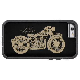 Retro Live To Ride Vintage Motorcycle with Text Tough Xtreme iPhone 6 Case
