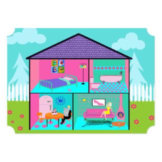 Retro Living Dollhouse Invitation