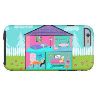 Retro Living Dollhouse iPhone 6 Case