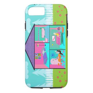 Retro Living Dollhouse iPhone 7 Case