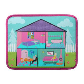 Retro Living Dollhouse MacBook Air Sleeve
