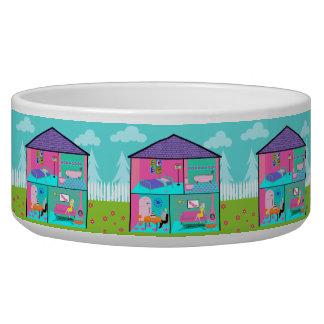 Retro Living Dollhouse Pet Bowl