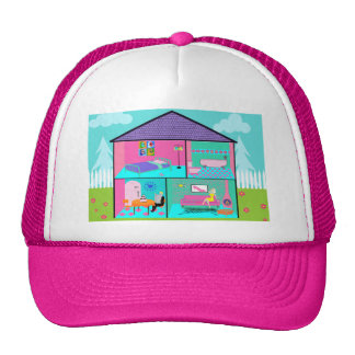 Retro Living Dollhouse Trucker Hat