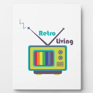 Retro Living Display Plaques