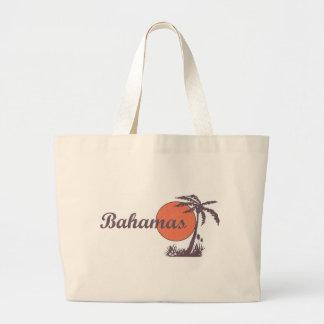 Retro llevada Bahama Bolsa De Tela Grande