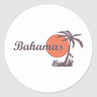 Retro llevada Bahama Pegatina Redonda