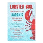Retro Lobster 5x7 Paper Invitation Card