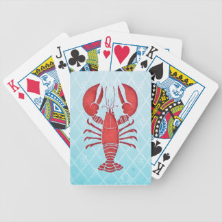 Retro Lobster Bicycle Playing Cards