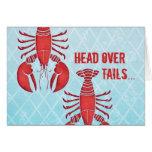 Retro Lobster Greeting Card