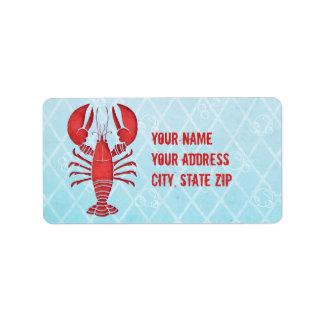 Retro Lobster Label