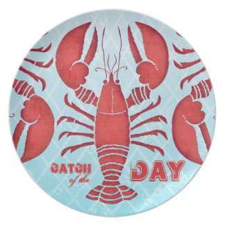 Retro Lobster Party Plates