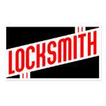 retro locksmith business card
