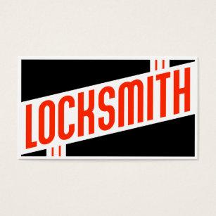 Locksmith business cards templates zazzle retro locksmith business card colourmoves Choice Image