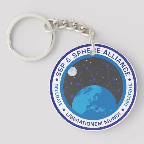 Retro Logo Circular Keychain