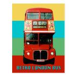Retro London Bus Postcard