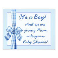 retro look baby shower invitation for a boy