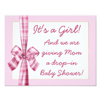 retro look baby shower invitation for a girl