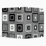 Retro look black white square pattern binder