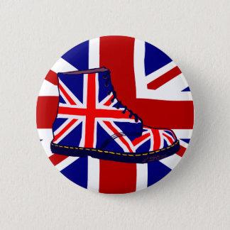 Retro look british boot pop art UJ Button