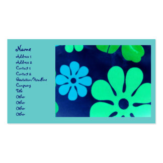 Retro Look Floral Business Cards