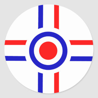 Retro Look Mod Cross Design Stickers